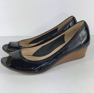 Cole Haan Nike Air 8.5 Shoes Wedge Patent Leather